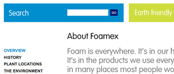 Using sIFR on foamex.com (rendering VAG rounded)